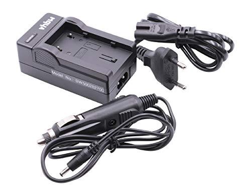 vhbw LADEGERÄT LADEKABEL NETZTEIL inkl. KFZ-Lader passend für JVC für JVC-Akkus BN-VF808 / BN-VF808U / BN-VF815 / BN-VF815U / BN-VF823 / BN-VF823U