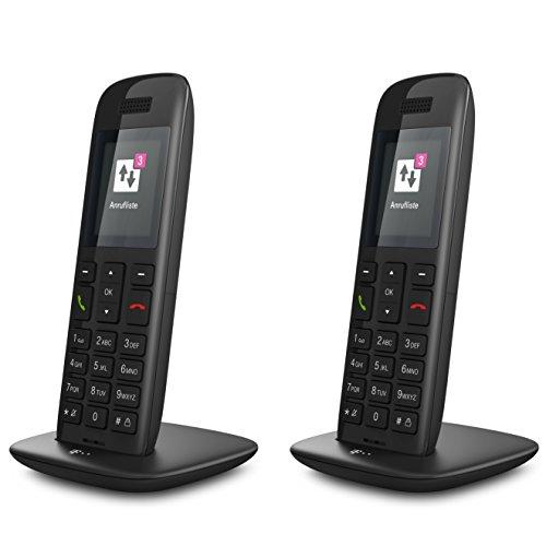 Telekom Speedphone 11 DUO Set (wahlweise nutzbar am IP Anschluss oder am analogen a/b Port) schwarz