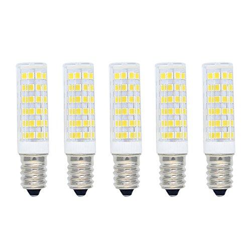 Bombilla LED 7W E14 Equivalente a Bombilla Halógena 60W 550LM Blanco Frío(6000K),Bombillas LED de Ahorro de Energía,Bombillas SES LED,Angulo de Haz de 360 ° No Regulable AC220-240V 5 piezas