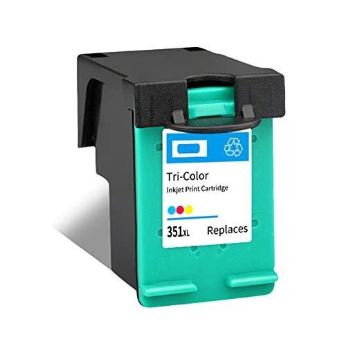 Cartuchos de tinta 350XL 351XL de alto rendimiento de repuesto para HP D4200, J5370, J5700, 6400, color negro y color