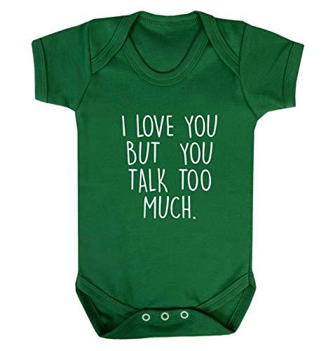 Flox Gilet créatif pour bébé Love You But You Talk Trop - Vert - XXL
