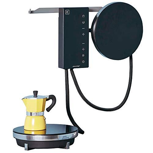 Fabita Ordine – Elektro-Kochfeld für Induktionsherd, Glaskeramik, 2 Herde, tragbar, Farbe: Schwarz