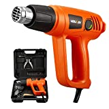 VOLLTEK Corded 1800W Heat Gun and 9Pcs Accessories, Variable Temperature 2 Modes Adjustable...