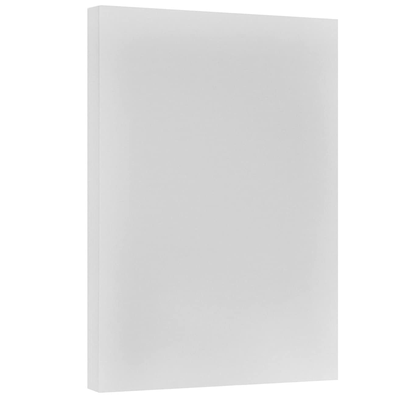 JAM PAPER Vellum Bristol 67lb Cardstock - 11 x 17 Letter Coverstock - Grey - 50 Sheets/Pack