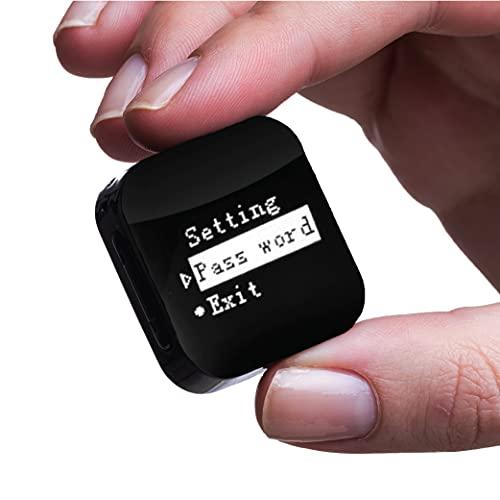Enregistreur Audio Activé par la Voix - 286 Heures Capacite - Fichiers Protégés par Mot de Passe - 20 Heures Batterie- Le Plus Petit Dictaphone par Atto Digital