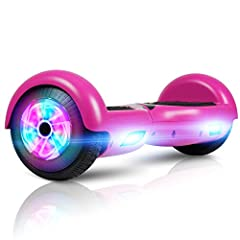 EASY TO USE & STABLE CONTROL: The Hoverboard specially designed for the beginners & amateurs, easy to learn and maintain balance. It can go straight, make a turn and rotate for 360 degrees locally, and is operated at will! Powerful 160W brushless mot...