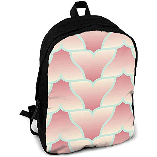 Notebook Travel Bag,Casual Shoulders Bag,Outdoor Daypacks,Multipurpose School Backpack,Whale Tail Fluke Zigzag Laptop Rucksack,Custom College Bookbag for Kids/Adult