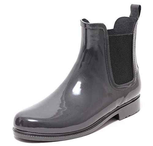 Zapato Chelsea Regenstiefelette Gummistiefelette Regenstiefel Gummistiefel Rain Boot Reitstiefelette Stiefel DUNKEL GRAU ANTHRAZIT Gr.39–41 (39)