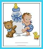 Kit de punto de cruz para adultos-DIY Cross Stitch estampado costura patrón de...