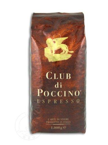 CLUB di POCCINO Espresso-Kaffee-Bohnen (1 Kg): Mild-aromatische Geschmackskomposition
