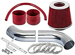 ST Racing Red Short Ram Air Intake Kit + Filter 95-00 Compatible with Chrysler Sebring JX/JXi Convertible Cirrus 2.5L V6