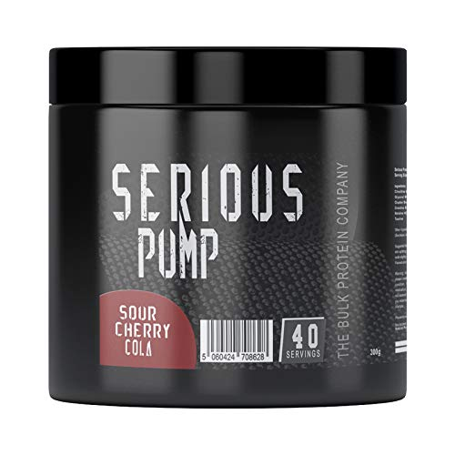Serious Pump Pre-Workout - 40 Servings | The Bulk Protein Company (Sour Cherry Cola, 300g)