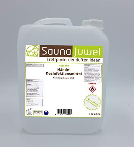 Desinfektionsmittel für die Hände (viruzid, bakterizid, fungizid) nach Vorgabe der WHO - 5 Liter