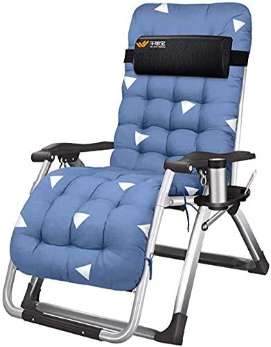 Sdraio per sedie a gravità zero reclinabile all'aperto sedie a gravità e poltrone reclinabili Sedia da letto Sedia da ufficio Sedie pieghevoli con cuscino Pranzo Break in Textoline con tavolino libero