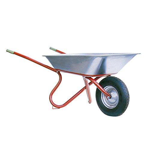 Kruiwagen Ibau-Export - professionele bouwwagen voor tuin & bouwplaats - 85 liter volume, luchtwiel op stalen velg