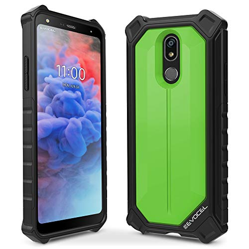 Evocel EvoGuard Series Phone Case Compatible with LG Stylo 5 Case with Glass Screen Protector and Full Body Protection, Green