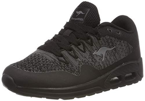 KangaROOS Unisex-Kinder Kanga X 5000 Sneaker, Schwarz (Jet Black/Steel Grey 5003), 33 EU