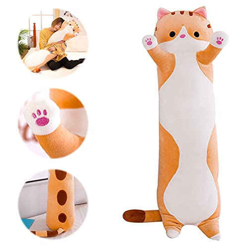 Ohyoulive Cute Plush Cat Doll Soft Stuffed Kitten Pillow Doll Toy Gift for Kids Girlfriend Creative New Long Cat Plush Toy Pillow Cute Doll Ragdoll Gift Sofa Supplies Soft and Good Breathabili