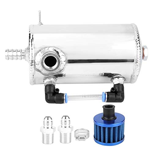 Heitune 0.5L Universal Oil Catch Can en Alliage D'aluminium Reniflard Réservoir Réservoir avec Filtre À Air