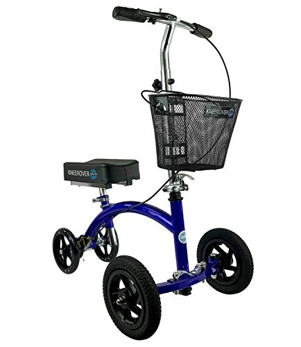 KneeRover Hybrid Knee Walker - All New Featuring KneeCycle Knee Scooter with All Terrain Front Axle Upgrade