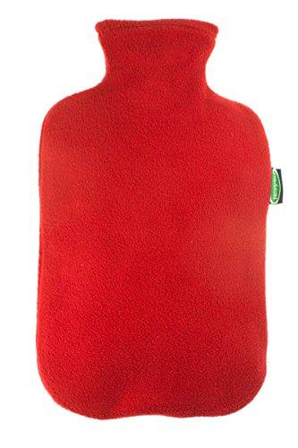 Sensiplast® Wärmflasche Made in Germany - mit Fleece Bezug Rot