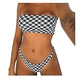 Mymyguoe Bikinis Mujer 2021Mujeres Trajes de baño Sexy 2 Piezas Tie Back Halter Triangle Bikini Sexy MujerTirantes Ajustables Dos Piezas Tops de Bikini Push up Bikini