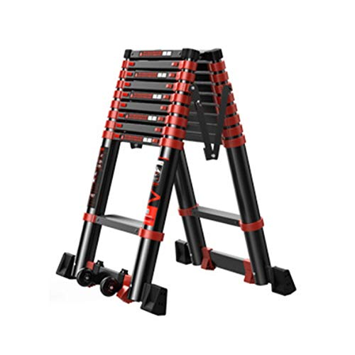 XIA Telescópica espiga de escalera, escalera grueso de aleación de aluminio plegable, de múltiples funciones casera Ascensor Escalera Ingeniería (Size : 2.3M)