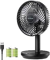 KEYNICE 卓上扇風機 首振り 充電式 usb扇風機 リズム風 ミニ扇風機 超強風 静音 風量3段階調節 長時間連続使用 節電 省エネ