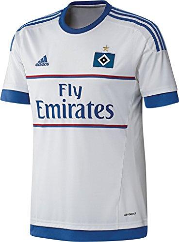 adidas Herren Trikot Hamburger SV Home Jersey, White/Hsv Blue, XS