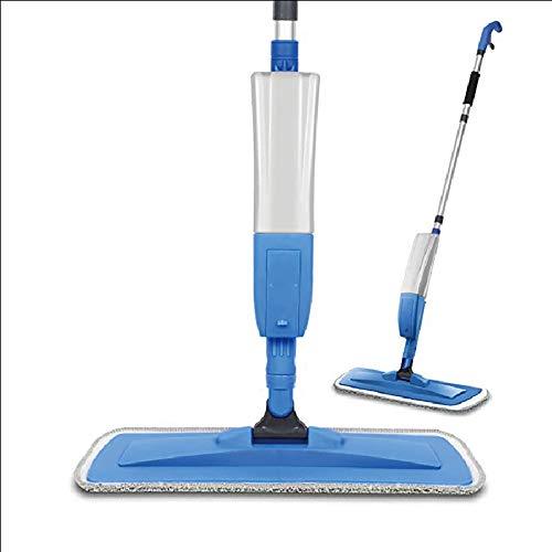 LTJY spray mop met vaporizer mop mop met 1 douchewand, 360 ° draaibaar, capaciteit 400 ml, blauw