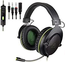 PS4 Gaming Headsets,G830 Gaming Headset 3.5 mm Wired Over Ear, with Microphone Noise Cancelling Gaming Headphones for Xbox 360/PC/PS4/PS4 PRO/Xbox One/Xbox One