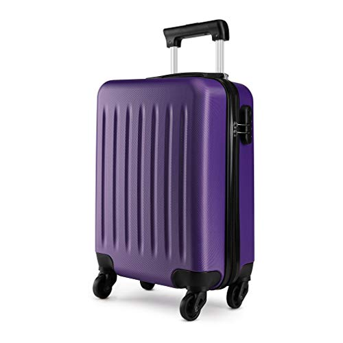Kono 19 inch Carry On Luggage Lightweight Hard Shell ABS 4 Wheel Spinner Suitcase (Purple)