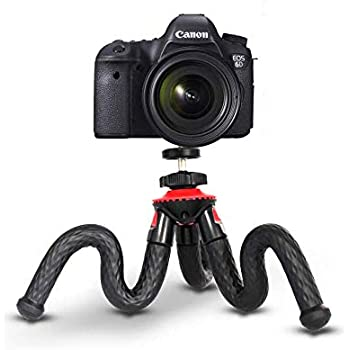 360 Degree Spherical Tripod Black Waterproof Tripod for Time-Lapse Photography Samsung Rose 12.2 Flexible Tripod with for iPhone Xs Set Flexible Tripods for Camera