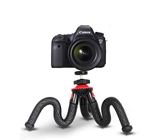 Flexibles Stativ, ELOKI Mini Travel Stativ Kamera Telefon Stativ mit Bluetooth-Steuerung für Canon Sony Nikon DSLR & Gopro Action Cam & Samsung / iPhone / Huawei, Rot