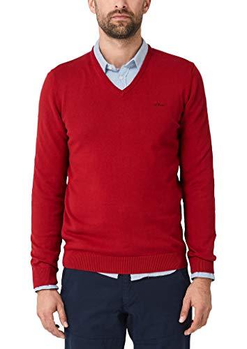 s.Oliver Herren 130.11.899.17.170.1267925 Pullover, Rot (Marker Red Melange 31w0), Large