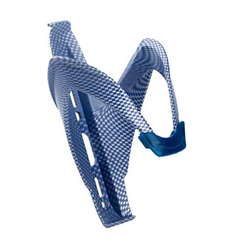 WANGYAN1886 Portabidón Bicicleta Bicicleta de montaña Titular de la Botella de Fibra de Carbono Holding Rack Ciclismo Bicicleta Botella de Agua Jaula Accesorios (Color : Blue)