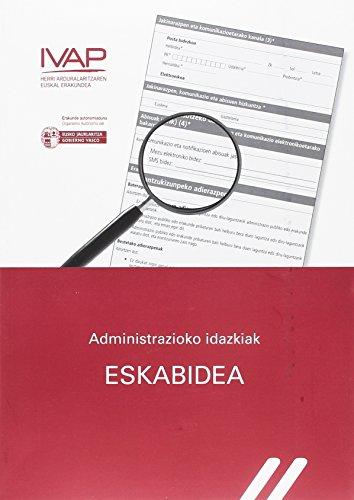 Administrazioko idazkiak. Eskabidea