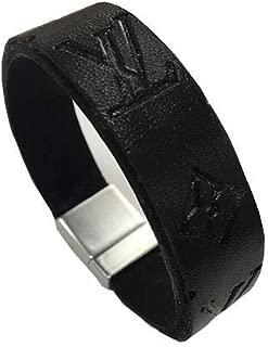 LV Embossed Leather Bracelet Monogram