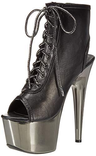 Ellie Shoes Women's 709-CLARA Ankle Boot, Black Polyurethane, 8 Medium US