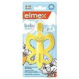 elmex Baby Zahnbürste und Beißring 0-12 Monaten, 1 Stück - angenehm bei Zahnungsbeschwerden, frei von BPA und zu 100 % aus lebensmittelechtem Silikon