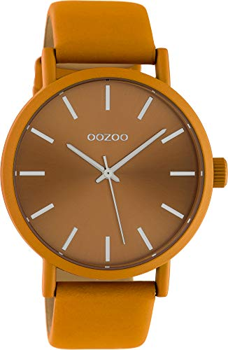 Oozoo Damenuhr mit Lederband 42 MM Colours of Oozoo Unicolor Orange C10451