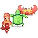 Navaris Kinder Tauchspielzeug Tauchtiere Set - 3X Schwimmhilfe aus Neopren mit Füllung aus Sand -...