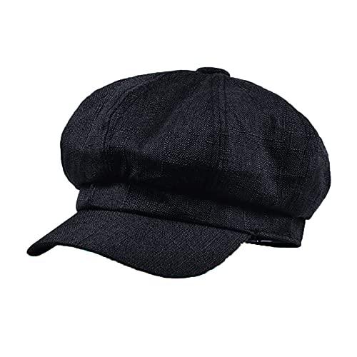 JAOAJ Boinas para Mujer, Mujer Sombrero Octogonal,Newsboy Hat Gorra Vendedor de Periódicos Mujer Baker Boy Cap, Tamaño 56-59cm