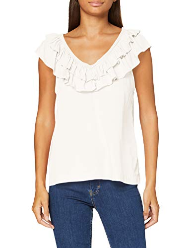 Vero Moda Vmlouisa SL V-Neck Top VMA Ki Camiseta sin Mangas, Abedul, L para Mujer
