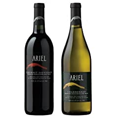 Ariel Non-alcoholic Wine Variety Two Pack Includes one bottle of Ariel Cabernet Includes one bottle of Ariel Chardonnay Non-alcoholic but full flavored