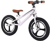 TYX-SS Ruedas Ejecutan Gran Impulsor de Ruedas para niños Grandes 115-140 cm (45-55 Pulgadas) de Altura, no Bicicleta de Entrenamiento Pedal con 16 Pulgadas inflados,Blanco
