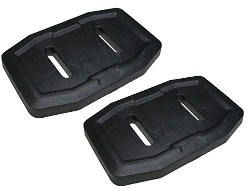 Set of 2 Genuine Husqvarna 583838801 Composite Skid Shoe OEM with Hardware