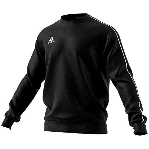 adidas Kinder CORE18 SW TOP Y Sweatshirt, Negro/Blanco, 176 (15/16 años)