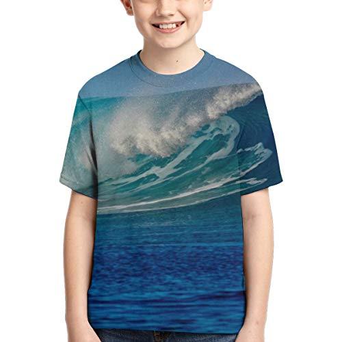 Camisetas para niños Surfing Barrel Wave Camisa Deportiva de Manga Corta para niños