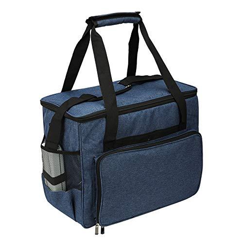 YDong Bolsas de Almacenamiento de la MáQuina de Coser de Gran Capacidad Bolso de Mano Accesorios de la MáQuina de Coser Organizador de Casa de Viaje PortáTil Multifuncional Azul